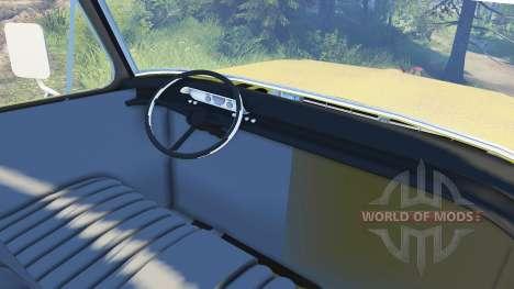 Ford F-200 1968 saddle tan para Spin Tires