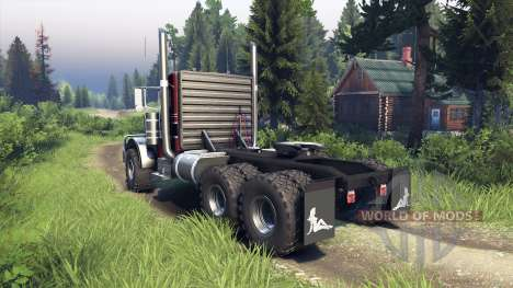 Peterbilt 379 red and black stripe para Spin Tires