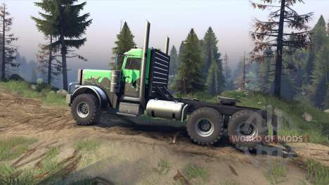 Peterbilt 379 v1.1 green and black para Spin Tires