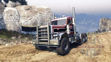 Peterbilt 379 v1.1 red and black stripe para Spin Tires