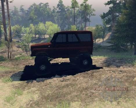 UAZ hunter para Spin Tires