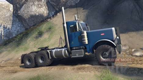 Peterbilt 379 v1.1 light blue para Spin Tires