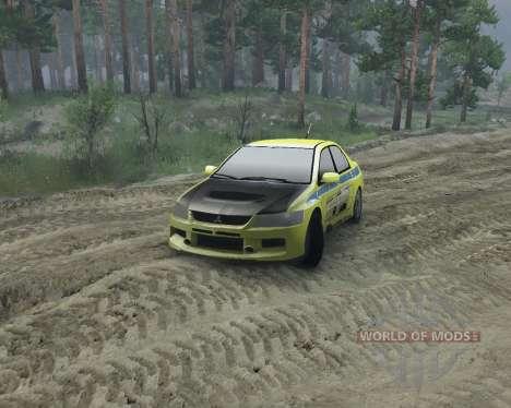 Mitsubishi Evolution para Spin Tires