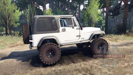 Jeep YJ 1987 white para Spin Tires