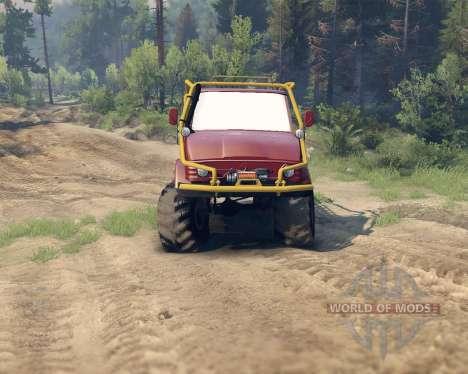 Unimog SWB para Spin Tires