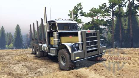 Peterbilt 379 black and green para Spin Tires