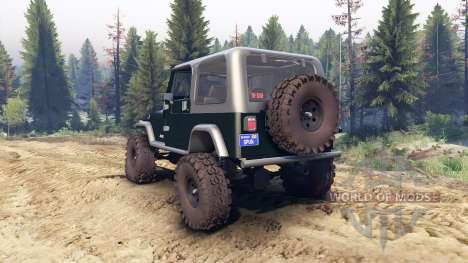 Jeep YJ 1987 dark green para Spin Tires
