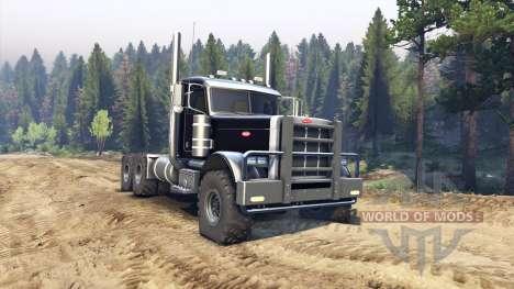 Peterbilt 379 black para Spin Tires