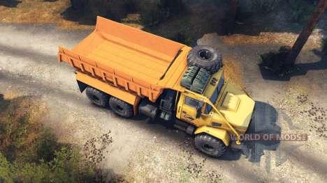 KrAZ-6322 v3.0 amarillas para Spin Tires