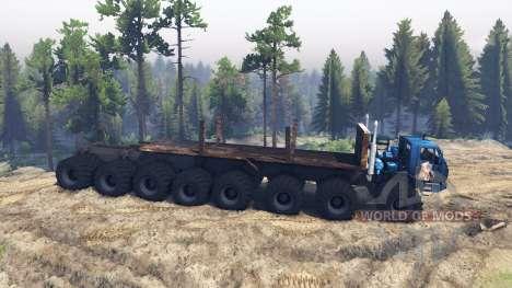 KrAZ 7E 6316 Trans-Siberia v1.1 para Spin Tires