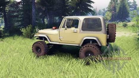 Jeep YJ 1987 green para Spin Tires