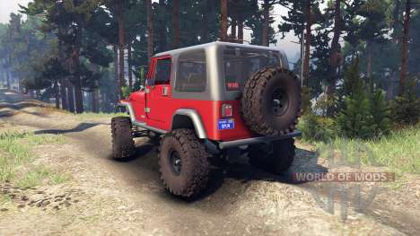 Jeep YJ 1987 red para Spin Tires