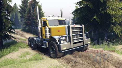 Peterbilt 379 v1.1 yellow para Spin Tires