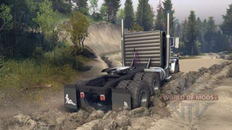 Peterbilt 379 v1.1 black blue para Spin Tires