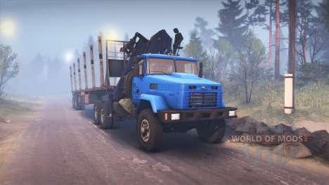 KrAZ-6322 v3.0 azul para Spin Tires