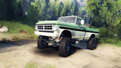 Ford F-200 1968 green and white