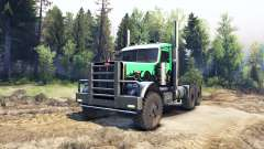 Peterbilt 379 green and black