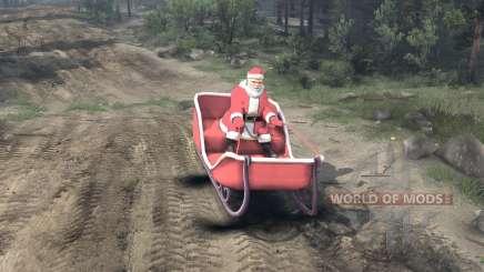 Santa en trineo para Spin Tires
