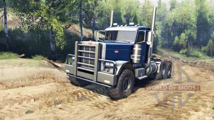 Peterbilt 379 v1.1 dark blue para Spin Tires
