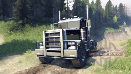 Peterbilt 379 v1.1 black and green para Spin Tires