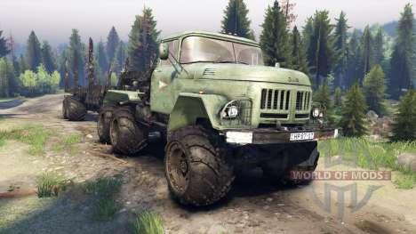 ЗиЛ-137 remolque de registro para Spin Tires