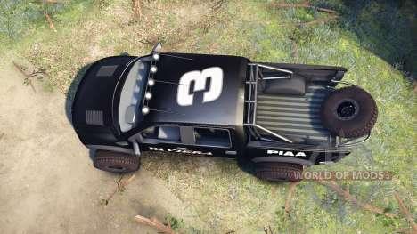 Ford Raptor Pre-Runner v1.1 riviera para Spin Tires