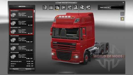 Motores para camiones DAF para Euro Truck Simulator 2