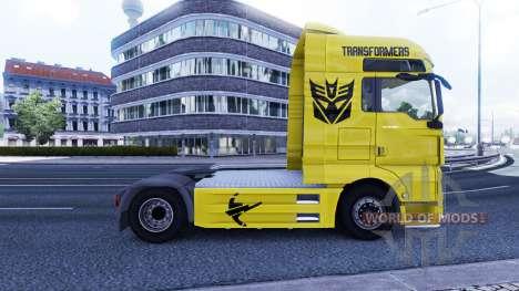 La piel de los Transformadores en el camión MAN para Euro Truck Simulator 2