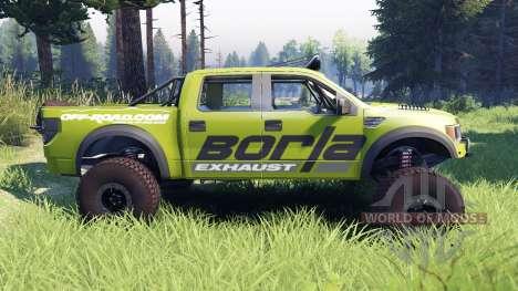 Ford Raptor Pre-Runner v1.1 borla para Spin Tires