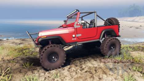 Jeep YJ 1987 Open Top red para Spin Tires