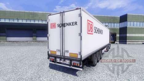 La piel de DB Schenker en el remolque para Euro Truck Simulator 2
