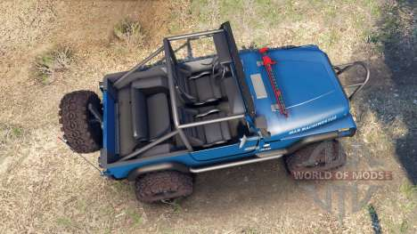 Jeep YJ 1987 Open Top blue para Spin Tires
