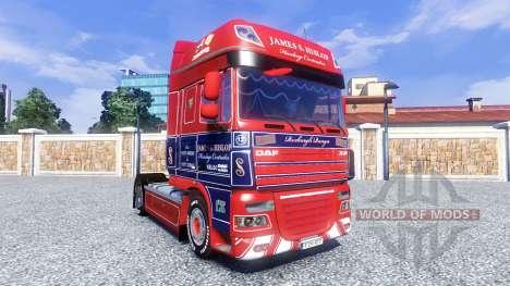 La piel de James S. Hislop para DAF tractora para Euro Truck Simulator 2