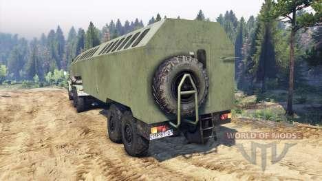 ЗиЛ-137 trailer de kung para Spin Tires