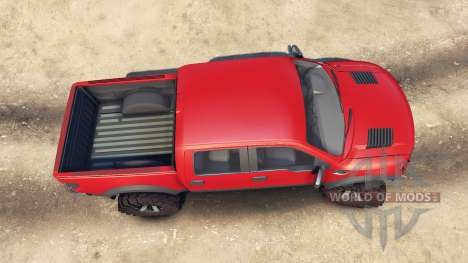 Ford Raptor SVT v1.2 red-gray para Spin Tires