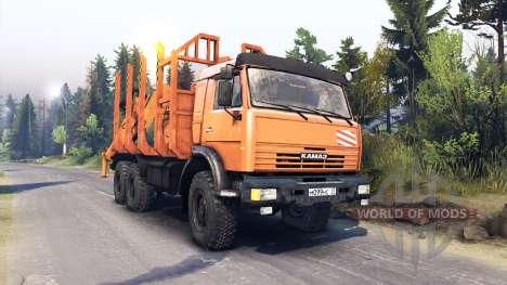 KamAZ-44108 para Spin Tires