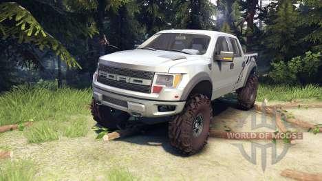 Ford Raptor SVT v1.2 factory ignot silver para Spin Tires