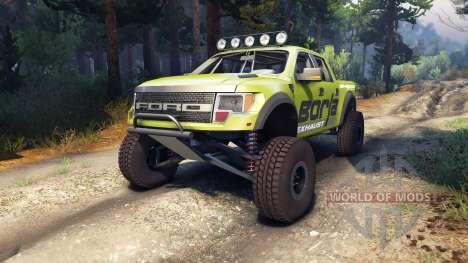 Ford Raptor Pre-Runner borla para Spin Tires