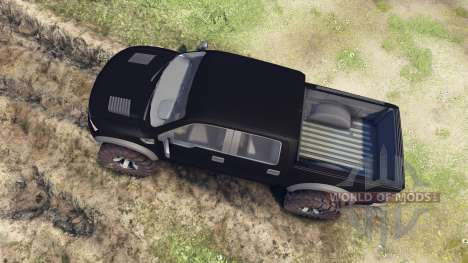 Ford Raptor SVT v1.2 matte black para Spin Tires