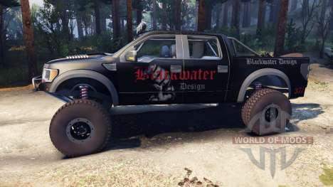 Ford Raptor Pre-Runner blackwater para Spin Tires