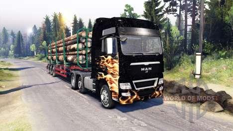 MAN TGX para Spin Tires