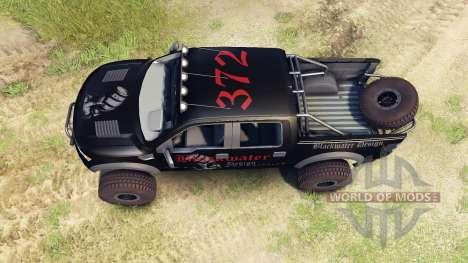 Ford Raptor Pre-Runner v1.1 blackwater para Spin Tires