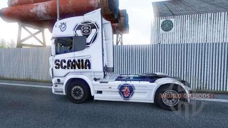 El Scania V8 de piel para Scania camión para Euro Truck Simulator 2