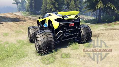McLaren P1 Monster para Spin Tires