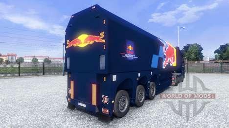 La piel de Red Bull Racing Hochglanz en el camió para Euro Truck Simulator 2