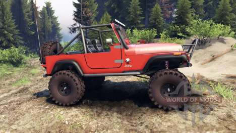Jeep YJ 1987 Open Top orange para Spin Tires