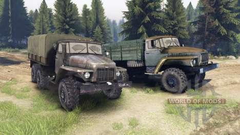 Ural-375 y 4320-01 para Spin Tires