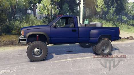 Chevrolet Regular Cab Dually blue para Spin Tires