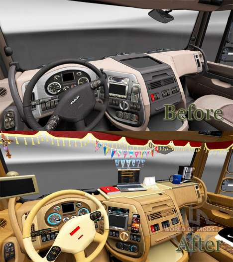 Interior de la nueva DAF trucks para Euro Truck Simulator 2