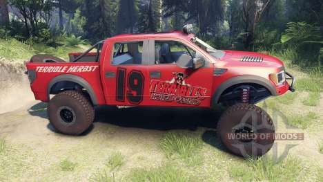 Ford Raptor Pre-Runner terrible herbst para Spin Tires